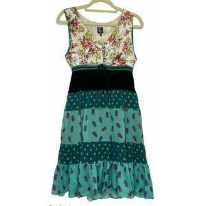 Tricot Chic Chiffon Floral Pineapple Sheer Dress 8